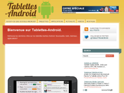 Tablettes Android : Le site Internet